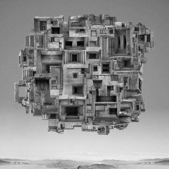 Jim Kazanjian photomontage surrealism black and white affordable structure