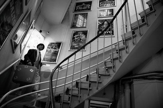 Gaëlle Girbes Circus Life Cirque photographie noir et blanc cirque d'hiver epilogue staircase