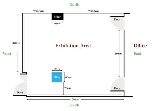 スペース内 平面図