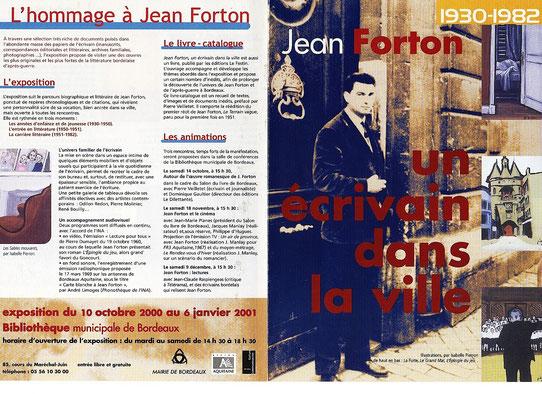 Programme de l'exposition autour de Jean Forton à Bordeaux en 2000-2001. Cliquez sur l'image pour l'agrandir.