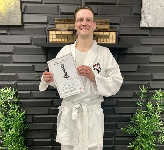 Neues Mitglied im Karatezentrum: Tobias Werner