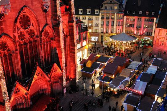 Marché de Noël à Mulhouse - Source : OT de Mulhouse