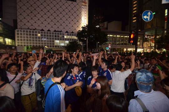 Folie sur le passage piéton de Shibuya !