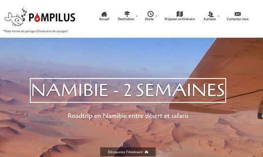 Capture écran de Pompilus.fr