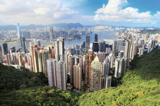 Vue sur la baie de Hong Kong - Source : Fotolia
