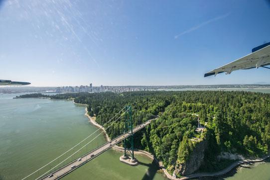 Guide Vancouver : Vue sur le Stanley Park depuis un Hydravion