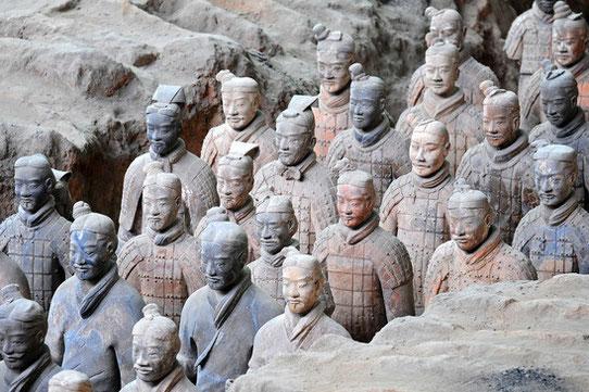 L'armée de terre cuite à Xi'An, Chine