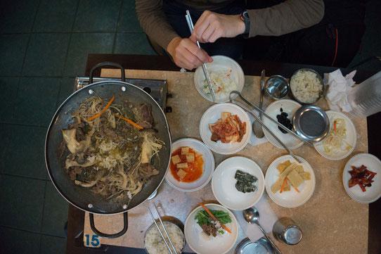 Repas du Midi ! Typiquement Coréen !