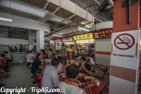 Dans les Hawker center du qurtier chinois de Singapour !