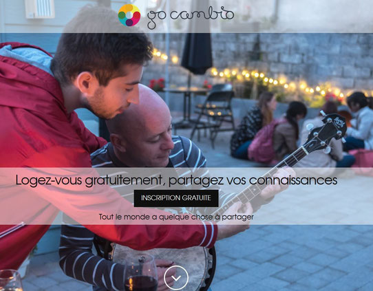 Capture Ecran du site GoCambio !