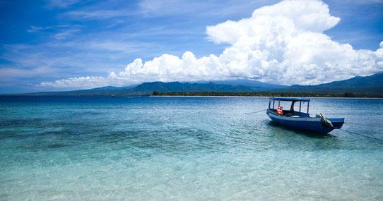 Gili Island à Bali en Indonésie