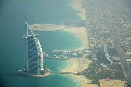 La Bruj Al Arab depuis l'Hydravion, Source : Trip85.com