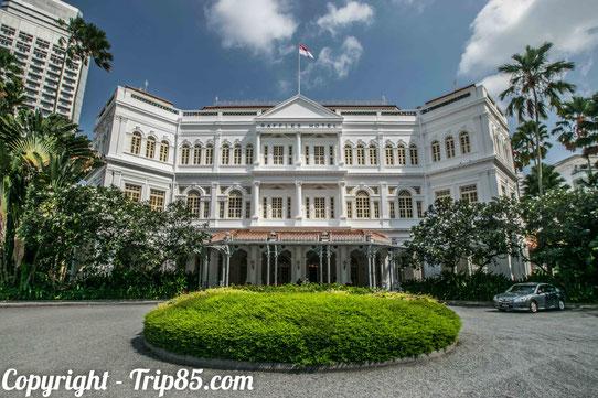 Le Raffles, un palace haut de gamme connu dans le monde entier !