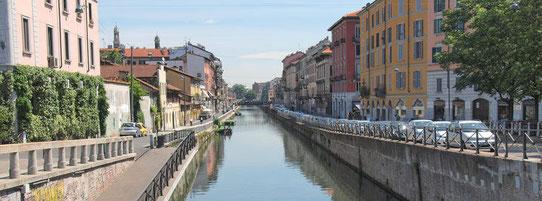 Vue sur les canaux, Milan