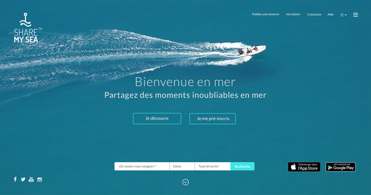 HomePage de Share My Sea