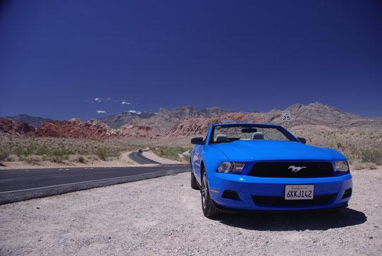 Ford Mustang - Sur la Route 66