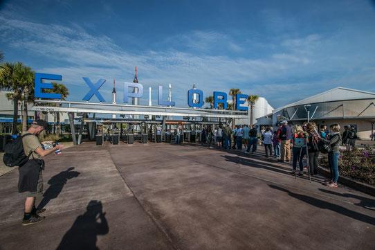 L'entrée du Kennedy Space Center