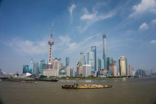 Vue imprenable sur la Skyline de Shanghai