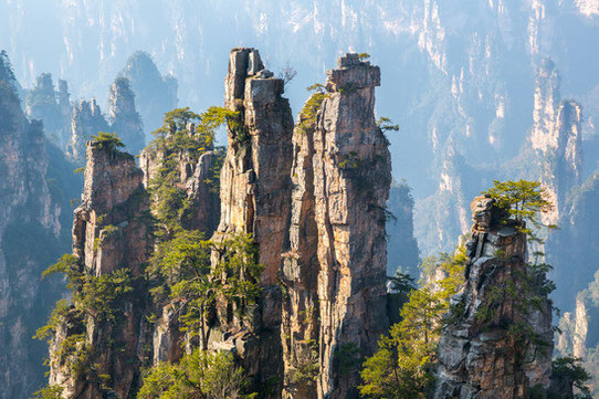 Parc national de Zhangjiajie en Chine