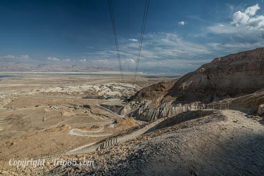 La mer Morte vue depuis Masada !