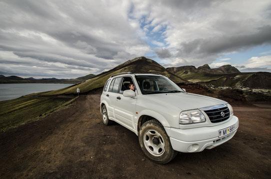 Sur la piste en direction de Landmannalaugar en Islande