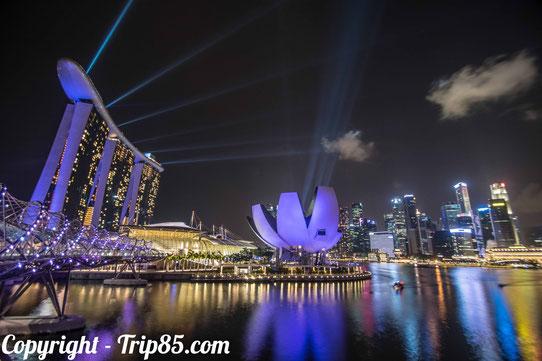 Singapour de nuit !
