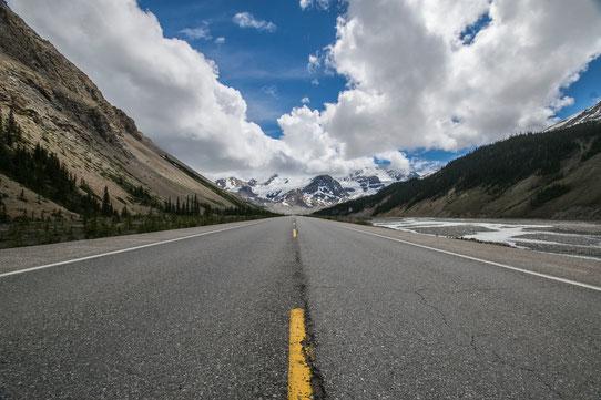 Sur l'Icefield Parkway, une route mythique du Canada