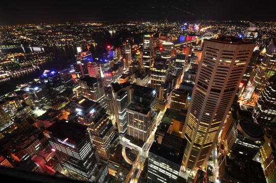 Vue de nuit depuis la Sydney Tower