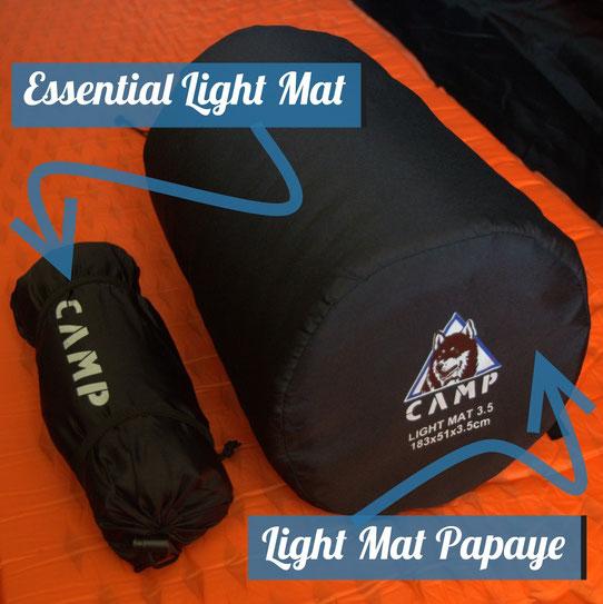 L'essential Light Mat est beaucoup plus léger et plus petit que le light Mat Papaye