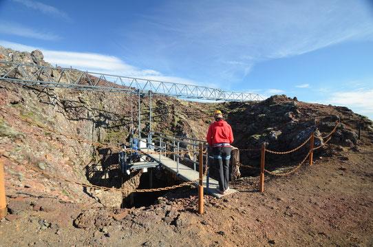Inside the volcano : Nacelle qui vous descendra au coeur du Volcan