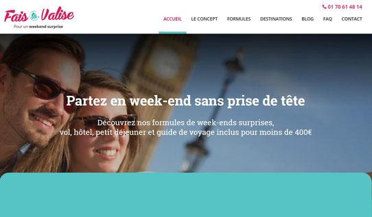 Capture écran du site Fais Ta Valise