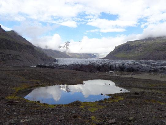 Le glacier Vatnajökull, parc national de Skaftafell