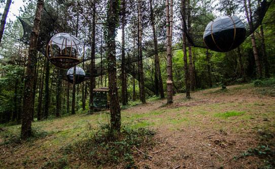 Hébergement insolite : Les nids du Béarn