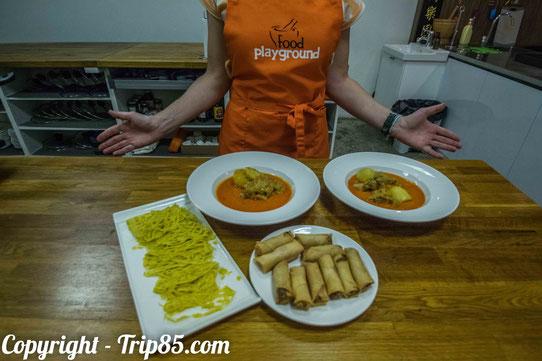 Cours de cuisine singapourienne avec Food Playground !