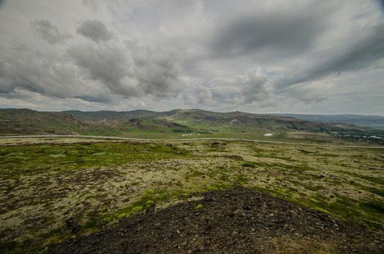 Sur la route entre Keflavik et Landmannalaugar
