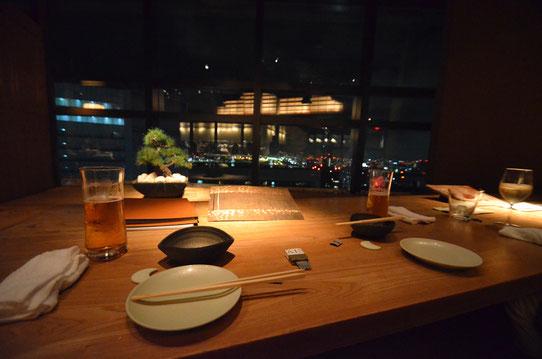 Diner avec vue sur Tokyo !