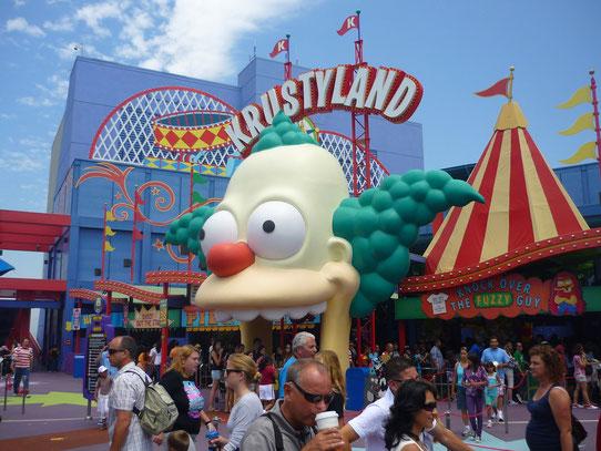 L'attraction dédiée aux Simpson's est juste énorme !
