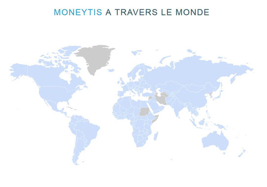 Moneytis à travers le monde