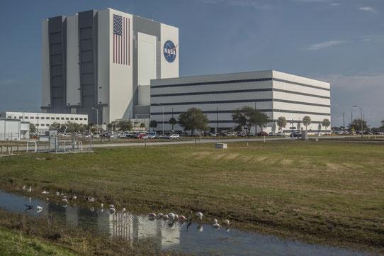 Le mythique hangar de la NASA où sont assemblées les fusées !