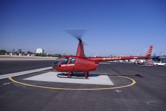 Embarquement dans l'hélicoptère pour survoler Los Angeles