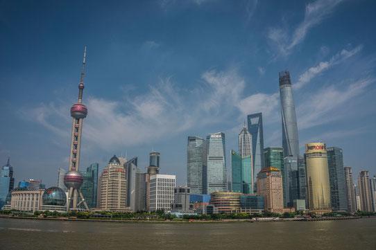 Vue sur Pudong depuis le Bund !