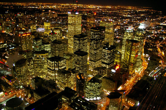 Vue sur les toits de Toronto depuis la CN Tower