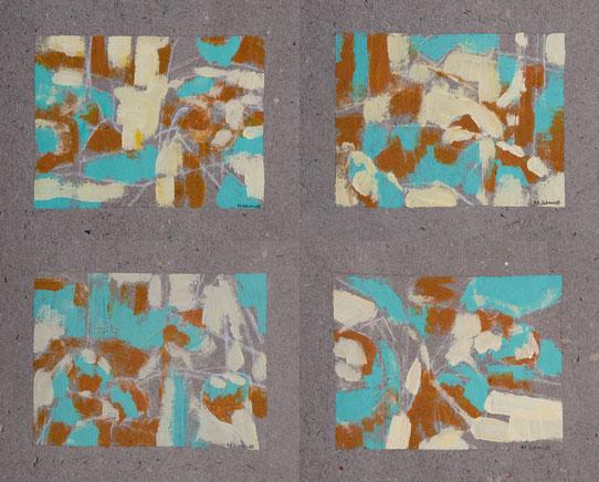 Grafische Malerei Lotusblumen-Teich abstrakte Komposition