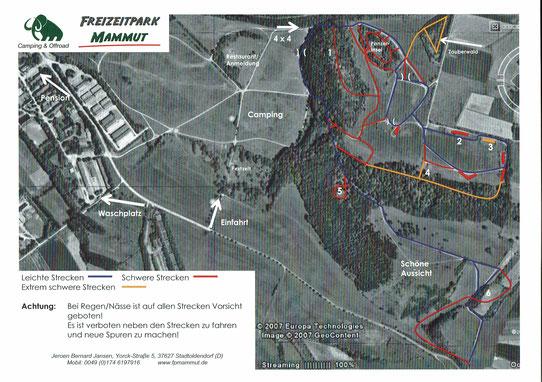 Freizeitpark Mammut Geländekarte