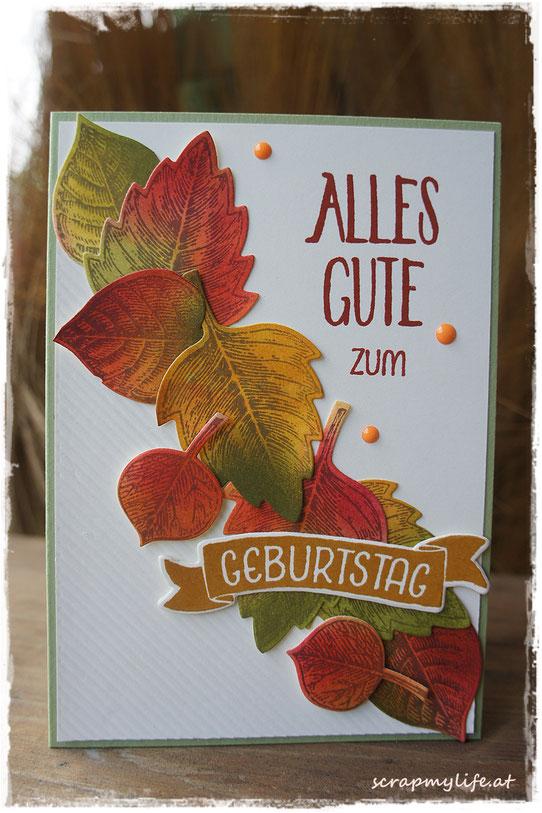 stampin up - vintage leaves - grüße rund ums jahr