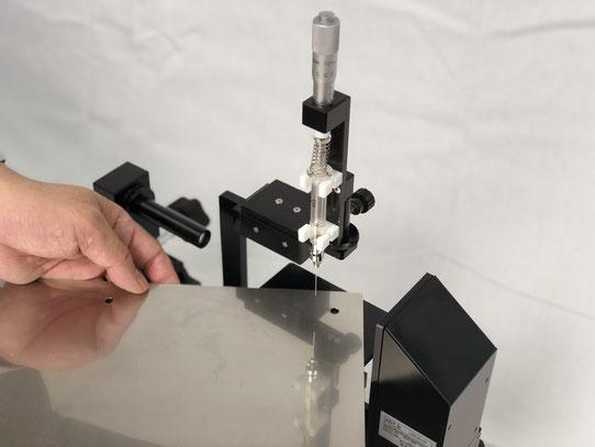 大きなワークの接触角測定