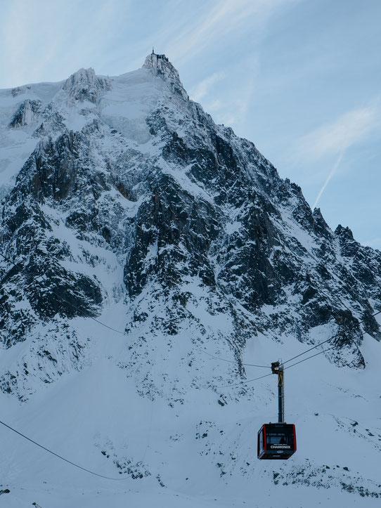 Aiguille du Midi, Téléphérique, Cable Car (French Alps, Alpes françaises)