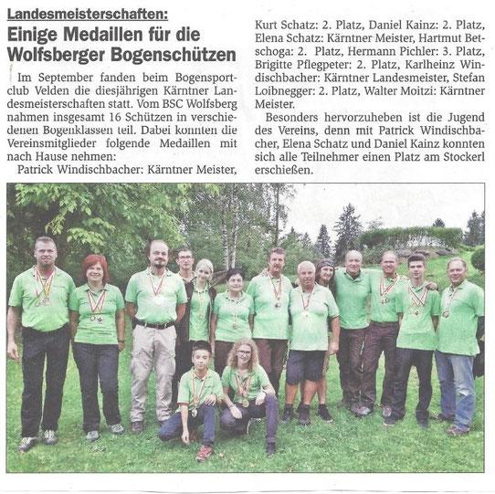 Unterkärntner Nachrichten 07.10.15