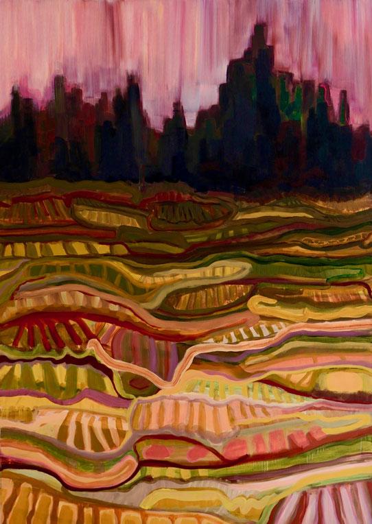 Tellurique 2, 2015 Acryl auf Leinwand 100x140