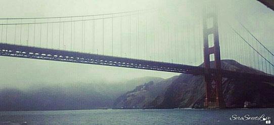 Golden Gate Bridge, foto scattata personalmente durante la gita sul traghetto nella baia